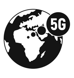 global 5g technology icon simple style vector image