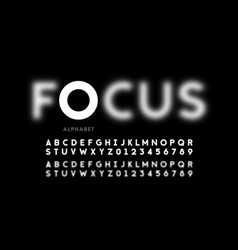 in focus style font design vector image