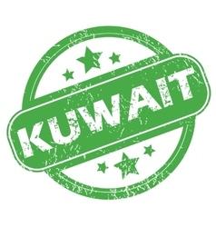 Kuwait green stamp vector
