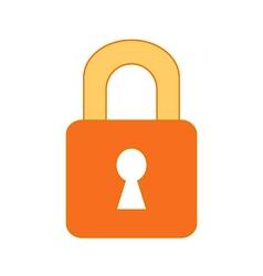 Lock symbol icon on white vector