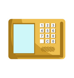 lock with numeric panel to enter password and vector image