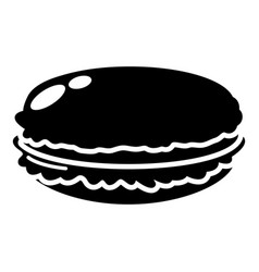 Macaroons icon simple black style vector