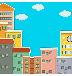 Many buildings at daytime vector