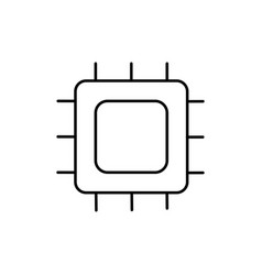 microchip icon vector image