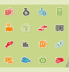 Money symbols icon set vector