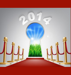 New year door keyhole 2014 vector
