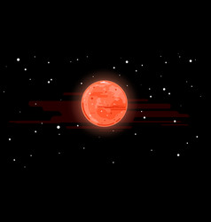 planet mars in space vector image