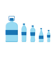plastic bottle for water container vector image