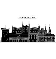 poland lublin architecture city skyline vector image