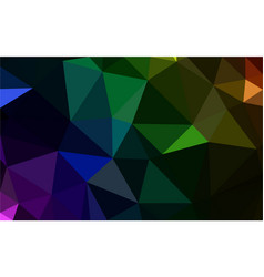 polygonal multocolor dark background vector image
