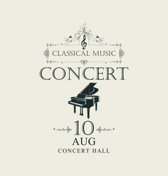 poster for concert of classical music with piano vector image