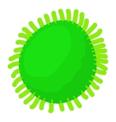 Round bacteria icon cartoon style vector
