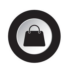 round black and white button - handbag bag icon vector image
