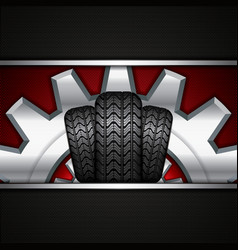 Rubber tire vector