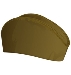 Russian summer military cap soldier retro hat vector