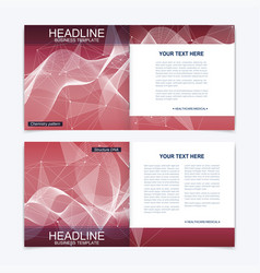 scientific templates square brochure magazine vector image