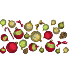 seamless christmas pattern with elements vector image