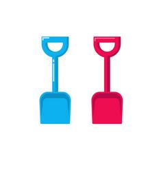 shovel icon fat cartoon small gardening vector image vector image