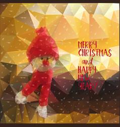 Snowman christmas new year vector