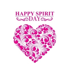 Spirit day heart vector