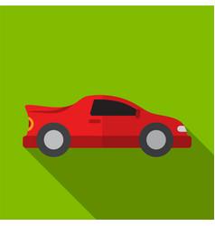Sport car flat icon vector