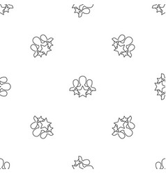 star customer retention pattern seamless vector image