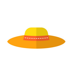 Sun hat protective clothing flat color icon vector
