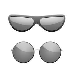 sunglasses icons set black silhouette sun glasses vector image