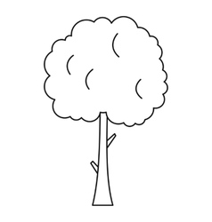 Tree with spherical crown icon outline style vector