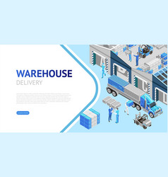 webpage of warehouse delivery information vector image