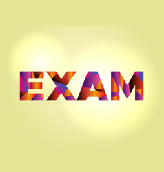 exam concept colorful word art vector image vector image
