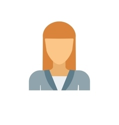 Flat avatar face character person portrait vector image