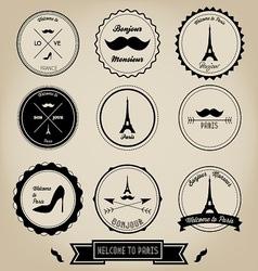 Paris France Vintage Label vector image vector image