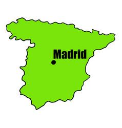 spanish map icon cartoon vector image