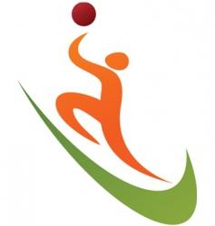 sport silhouette series basketball vector image