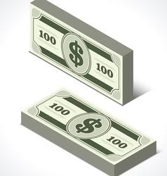 Dollars money in perspective vector image