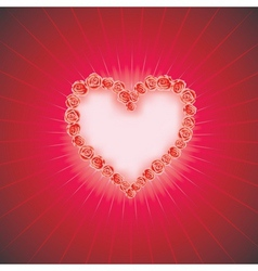 HEART OF LOVE Diamond heart background with space vector image