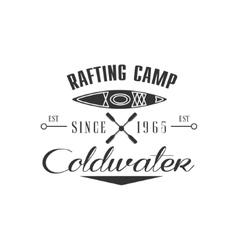 Rafting camp emblem design vector