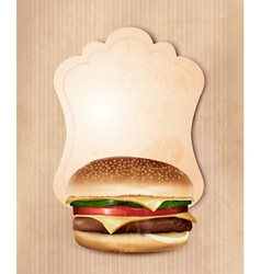 Retro fast food menu for burger vector image