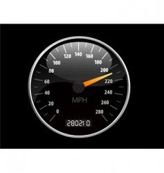 speedometer illustration vector image vector image