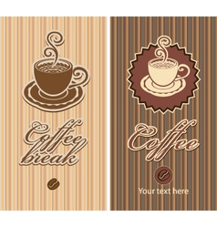 two coffee vector image