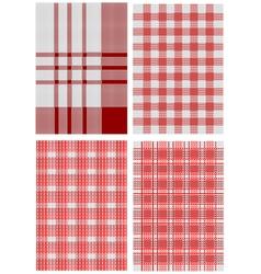 checkered tablecloths vector image