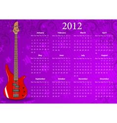 european calendar 2012 vector image vector image