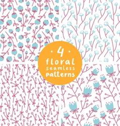 Floral patterns set 1 vector image vector image