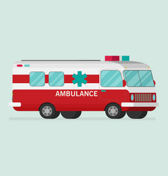 retro ambulance car vector image