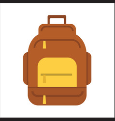 tourist backpack or hike bags knapsacks icon vector image vector image
