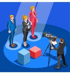 Election News Infographic Candidate Isometric vector image vector image