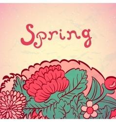 Flower ornamental frame in eastern style vector image vector image
