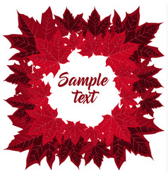 frame with maple leaves vector image