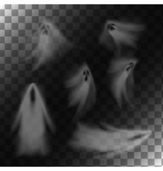 Ghosts on transparent background vector image vector image